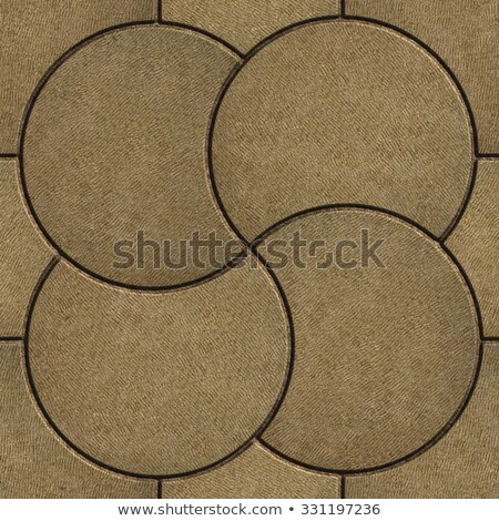 Photo stock: Sand Color Pavement In The Form Of A Circle