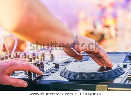 música · ilustração · fones · de · ouvido · boné · mão · festa - foto stock © ultrapop
