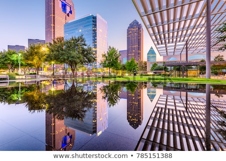 Stock photo: dallas downtown city views with buildings