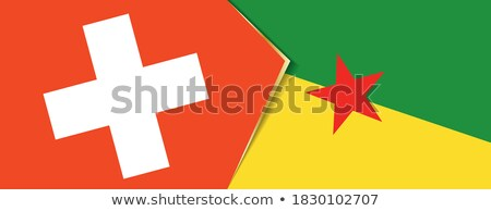 Швейцария французский флагами головоломки изолированный белый Сток-фото © Istanbul2009