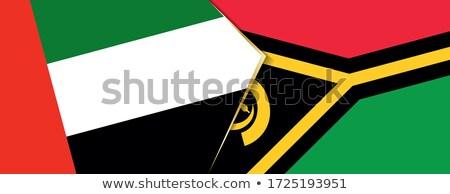 Egyesült Arab Emírségek Vanuatu zászlók puzzle izolált fehér Stock fotó © Istanbul2009