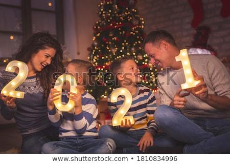 Pessoas celebrar ano novo ilustração homens noite Foto stock © adrenalina