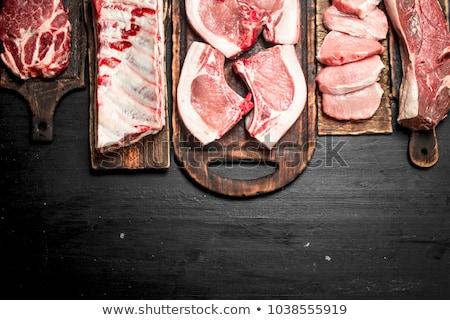 свинина мяса барбекю ретро избирательный подход Сток-фото © stevanovicigor