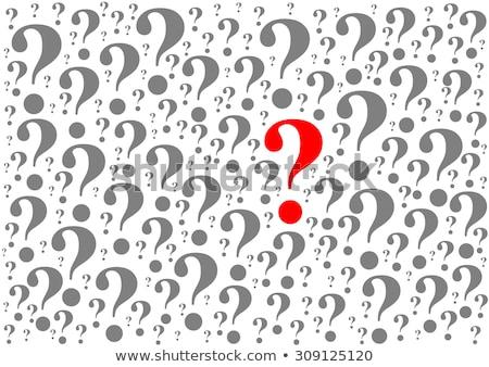 um · responder · muitos · perguntas · grande · ponto · de · exclamação - foto stock © 3mc
