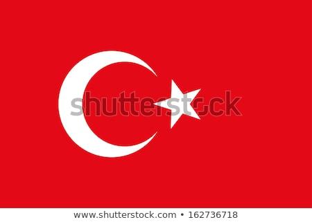 флаг · Турция · флагшток · изолированный · белый - Сток-фото © serdarduran
