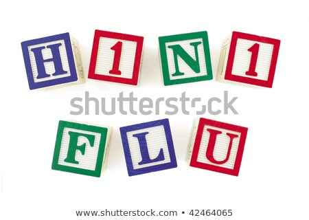 H1n1 грипп алфавит блоки форме Сток-фото © 3mc