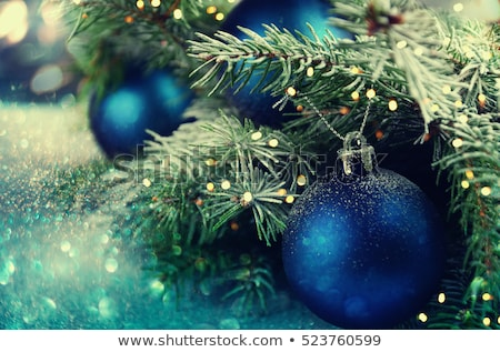 blue baubles on the christmas tree stock photo © smuki