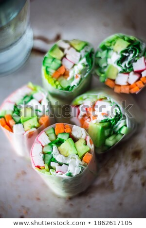 riso · insalata · tonno · pesce · pomodoro · alimentare - foto d'archivio © sebikus