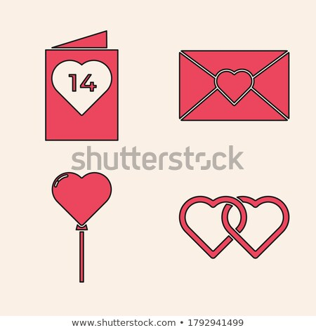 Two red balloons hearts linked Stock photo © MaxPainter