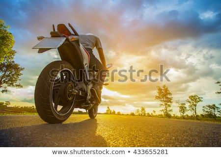 motorbike ride panned stock photo © fouroaks