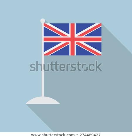 Unii banderą wielka brytania długo maszt niebieski Zdjęcia stock © latent