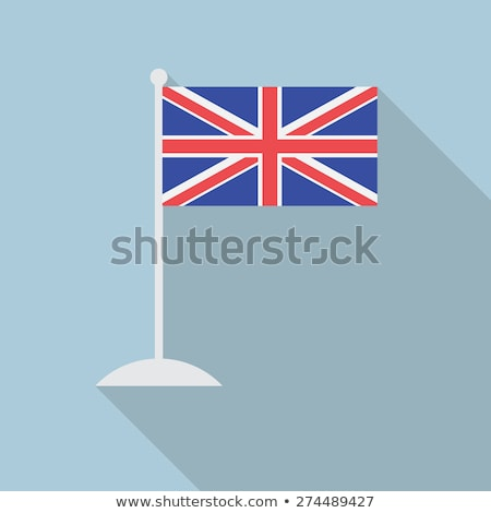 Unie vlag groot-brittannië lang vlaggestok Blauw Stockfoto © latent