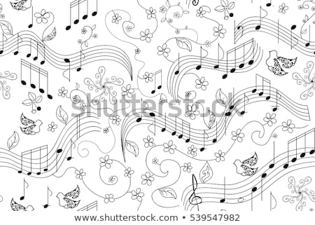 Musical lines and berries as musical notes  Stock photo © Ghenadie