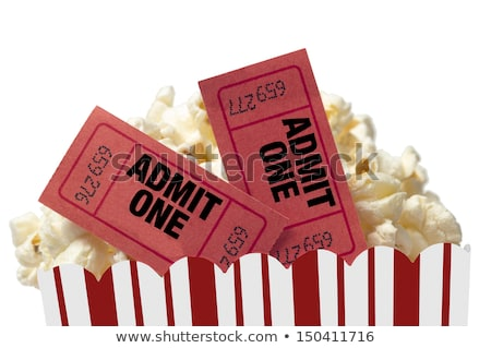 popcorn with movie tickets Stock photo © get4net