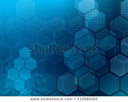 shining blue hexagons background Stock photo © marinini