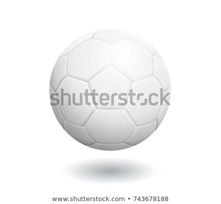 Siyah beyaz futbol topu beyaz sağlık futbol top Stok fotoğraf © nezezon