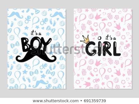 少女 · バルーン · 美しい · ピンク · 髪 - ストックフォト © adrenalina