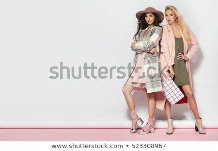 vogue style photo of a young woman stock photo © konradbak