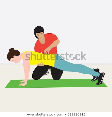 Personale fitness donna palestra illustrazione Foto d'archivio © vectorikart