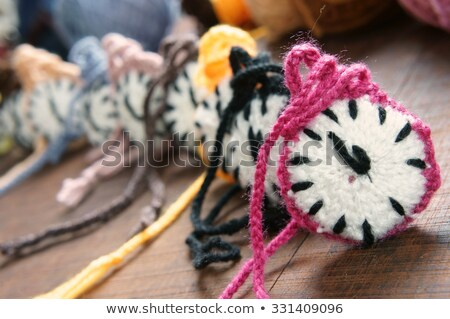 Knitted Clock Colorful Watch Handmade Hobby Foto stock © xuanhuongho