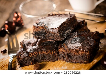 easter chocolate brownie Stock photo © M-studio