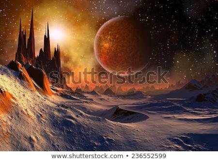 Alien Planet - 3D Rendered Computer Artwork Stock photo © maxmitzu