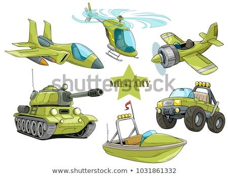 Militaire vechter tank illustratie oorlog grafische Stockfoto © bluering