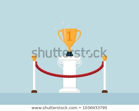 trophy cups on podium stock photo © timurock