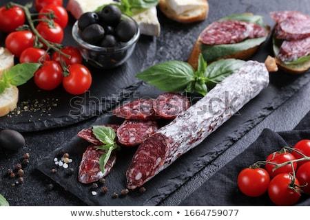 пряный высушите колбаса мяса Сток-фото © Digifoodstock