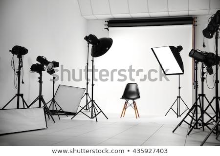 Photo studio interior with model stock photo © jossdiim