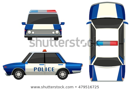 画像 · 警察 · 車 · 孤立した · 白 · スタイル - ストックフォト © bluering