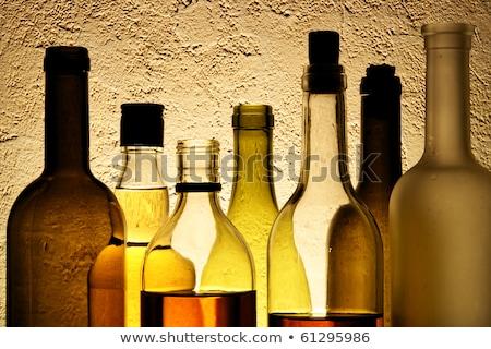 izolált · alkohol · üvegek · szemüveg · szerkeszthető · tengerpart - stock fotó © bluering