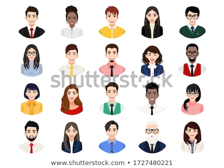 Business people vector avatars set on white stock photo © vectorikart