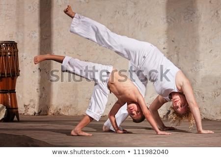Női küzdősportok szakértő rajz fehér lány Stock fotó © bluering