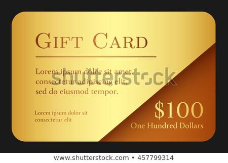 Lusso semplice carta regalo oro colore cioccolato Foto d'archivio © liliwhite
