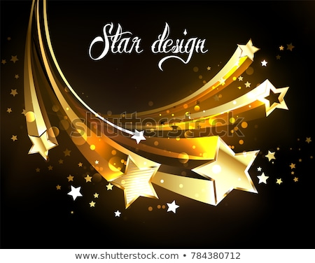 Beş altın siyah doku parti Stok fotoğraf © blackmoon979