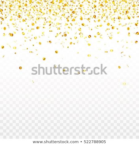 Festive glittering gold confetti falling. EPS 10 Stock photo © beholdereye