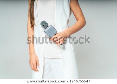 Elegante femminile giornalista business intervista stampa Foto d'archivio © stevanovicigor