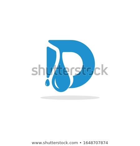 Su harfler soyut imzalamak kimyasal grafik Stok fotoğraf © almir1968
