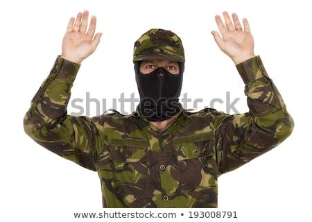 Megbilincselve katona letartóztatva férfi hadsereg tiszt Stock fotó © stevanovicigor
