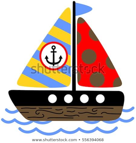 navio · mulher · roda · ícone · isolado - foto stock © bluering