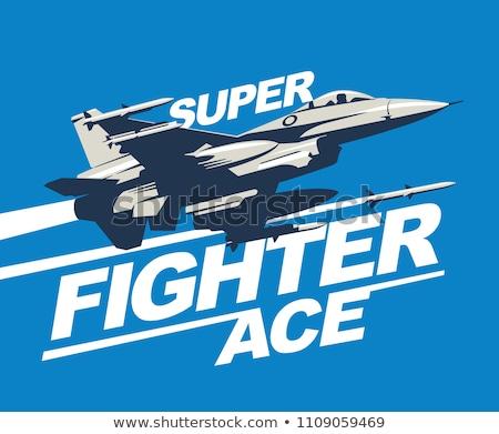 Moderno jet combattente piano completo arte Foto d'archivio © Bigalbaloo