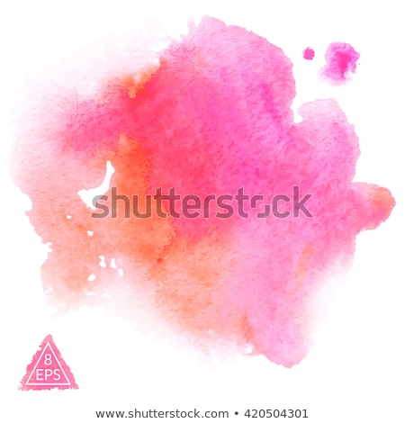 orange pink watercolor stain vector design illustration Stock photo © SArts