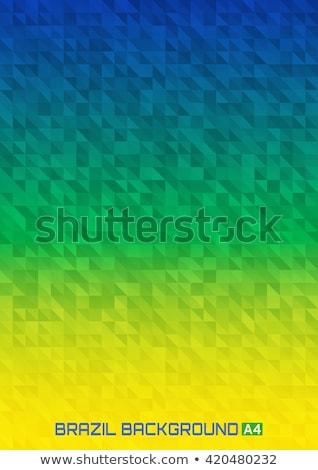 Бразилия линия дизайна брошюра плакат шаблон Сток-фото © Decorwithme