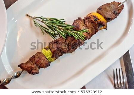 prato · fresco · caseiro · turco · picante · cordeiro - foto stock © frimufilms