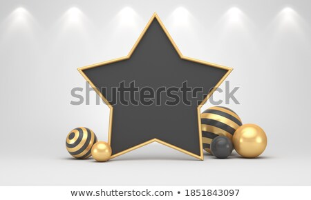 black friday sale background with yellow and black shiny spheres Stock photo © SArts