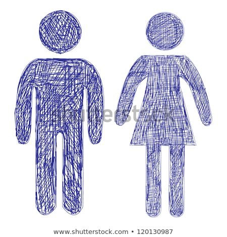 male and female symbol sketch icon stock photo © rastudio