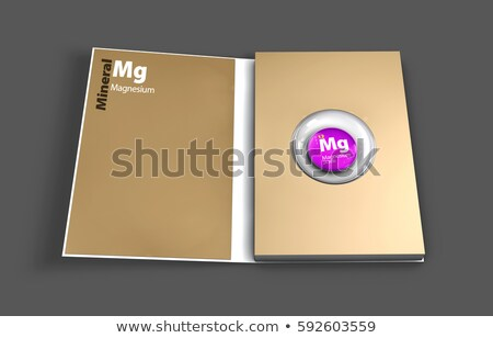 Boek magnesium mineraal illustratie 3d illustration Stockfoto © tussik