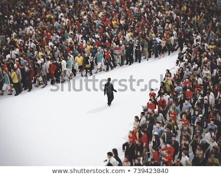 Illustration of crowd moved unknown people. Stock photo © Vertyr