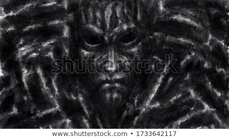 Retrato alienígena esboço rabisco ilustração Foto stock © perysty